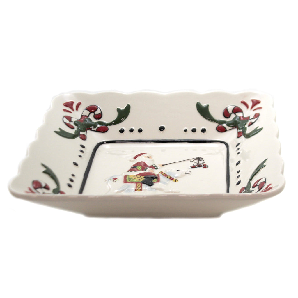 Santa With Polar Bear Dish 10655 Tabletop Serving Bowls - SBKGIFTS.COM - SBK Gifts Christmas Shop Cincinnati - Story Book Kids