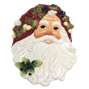 Santa Face Plate 10696 Tabletop Plates And Platters - SBKGIFTS.COM - SBK Gifts Christmas Shop Cincinnati - Story Book Kids