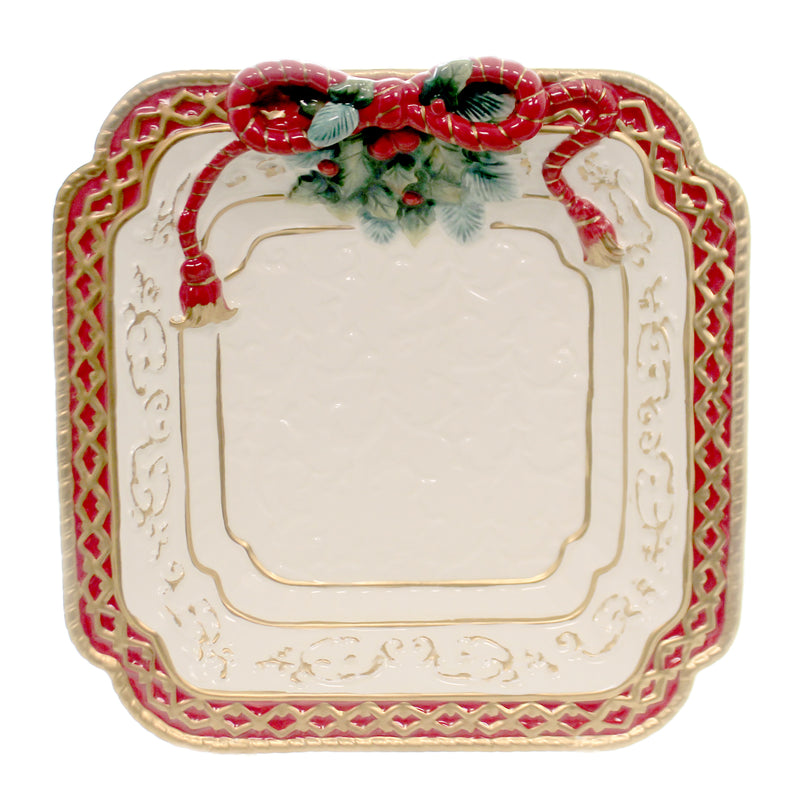 Poinsettia Dessert Plate 10286. Tabletop Plates And Platters - SBKGIFTS.COM - SBK Gifts Christmas Shop Cincinnati - Story Book Kids