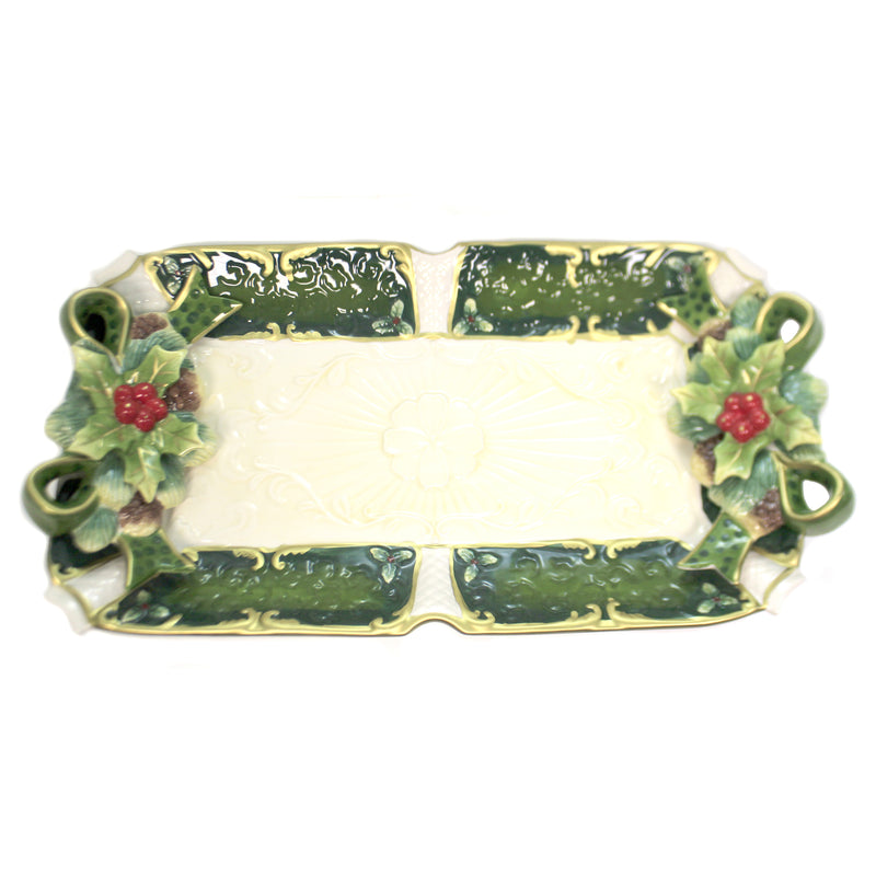 Holly Tray 10302. Tabletop Plates And Platters - SBKGIFTS.COM - SBK Gifts Christmas Shop Cincinnati - Story Book Kids