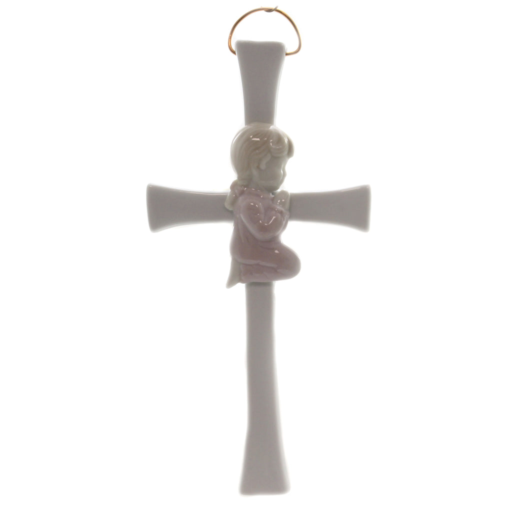 Praying Girl On Cross R8002b Religious Wall Decor And Hanging Decor - SBKGIFTS.COM - SBK Gifts Christmas Shop Cincinnati - Story Book Kids
