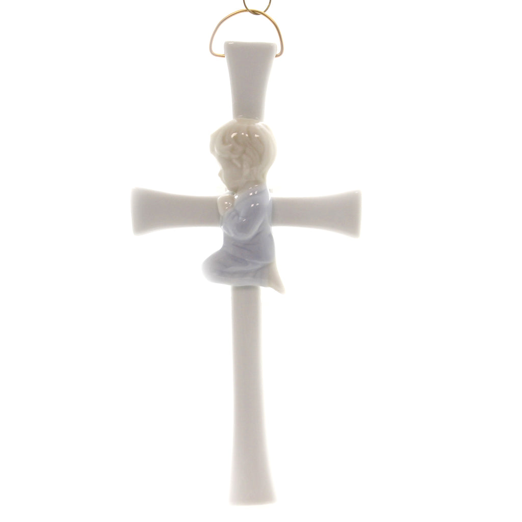 Praying Boy On Cross R8002a Religious Wall Decor And Hanging Decor - SBKGIFTS.COM - SBK Gifts Christmas Shop Cincinnati - Story Book Kids