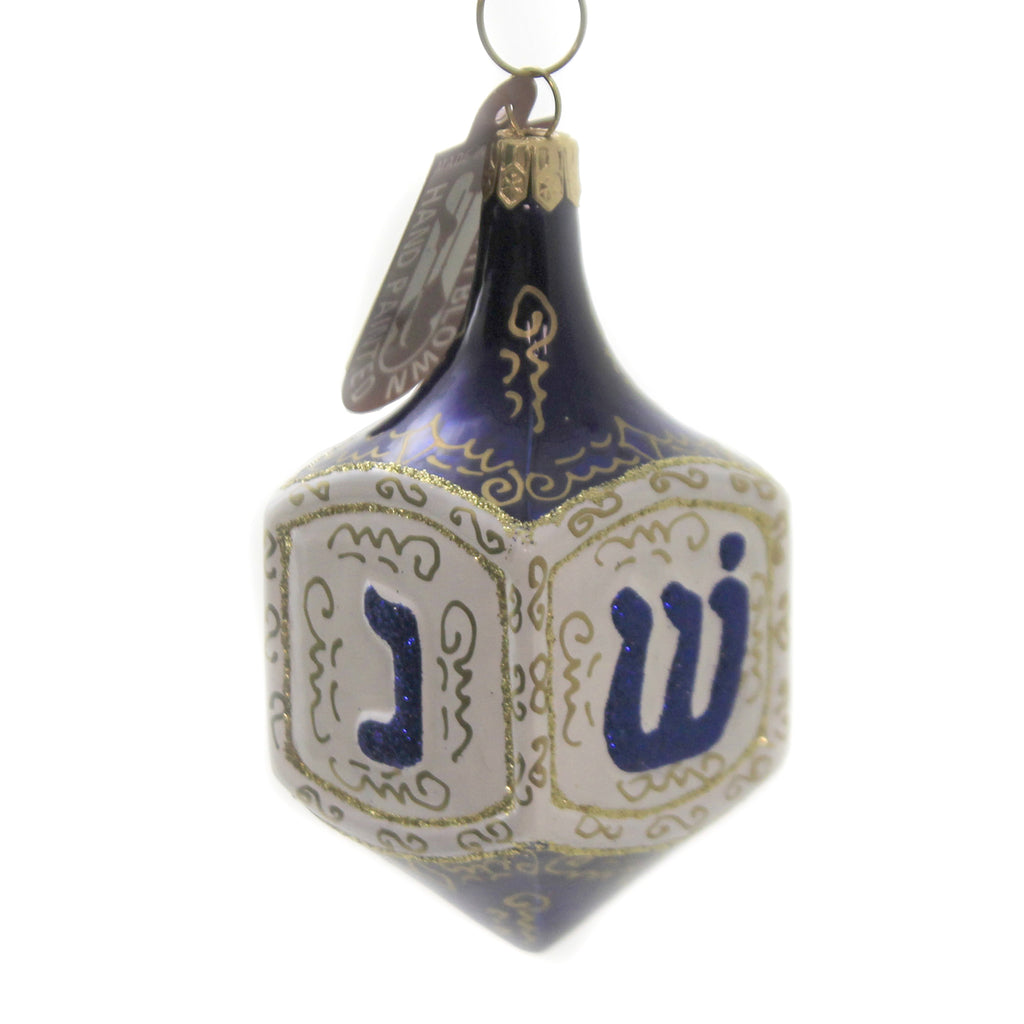 Dreidel. 090011 Glass Ornaments - SBKGIFTS.COM - SBK Gifts Christmas Shop Cincinnati - Story Book Kids