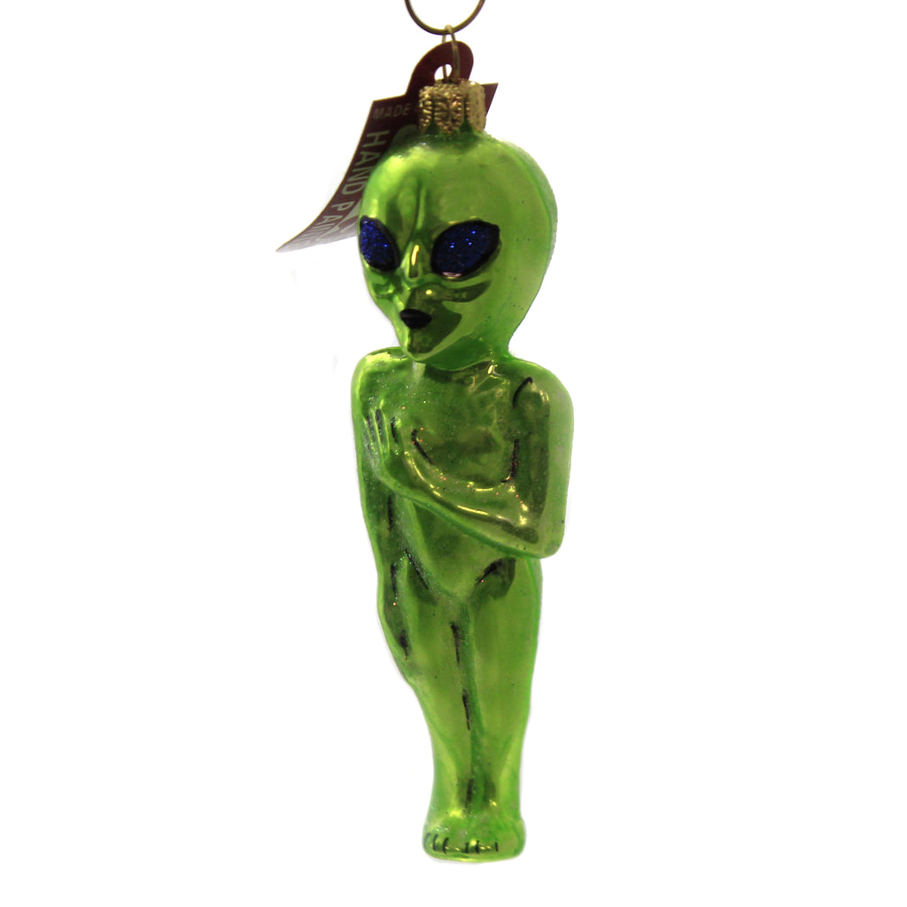 Outer Space Alien 2116 Glass Ornaments - SBKGIFTS.COM - SBK Gifts Christmas Shop Cincinnati - Story Book Kids