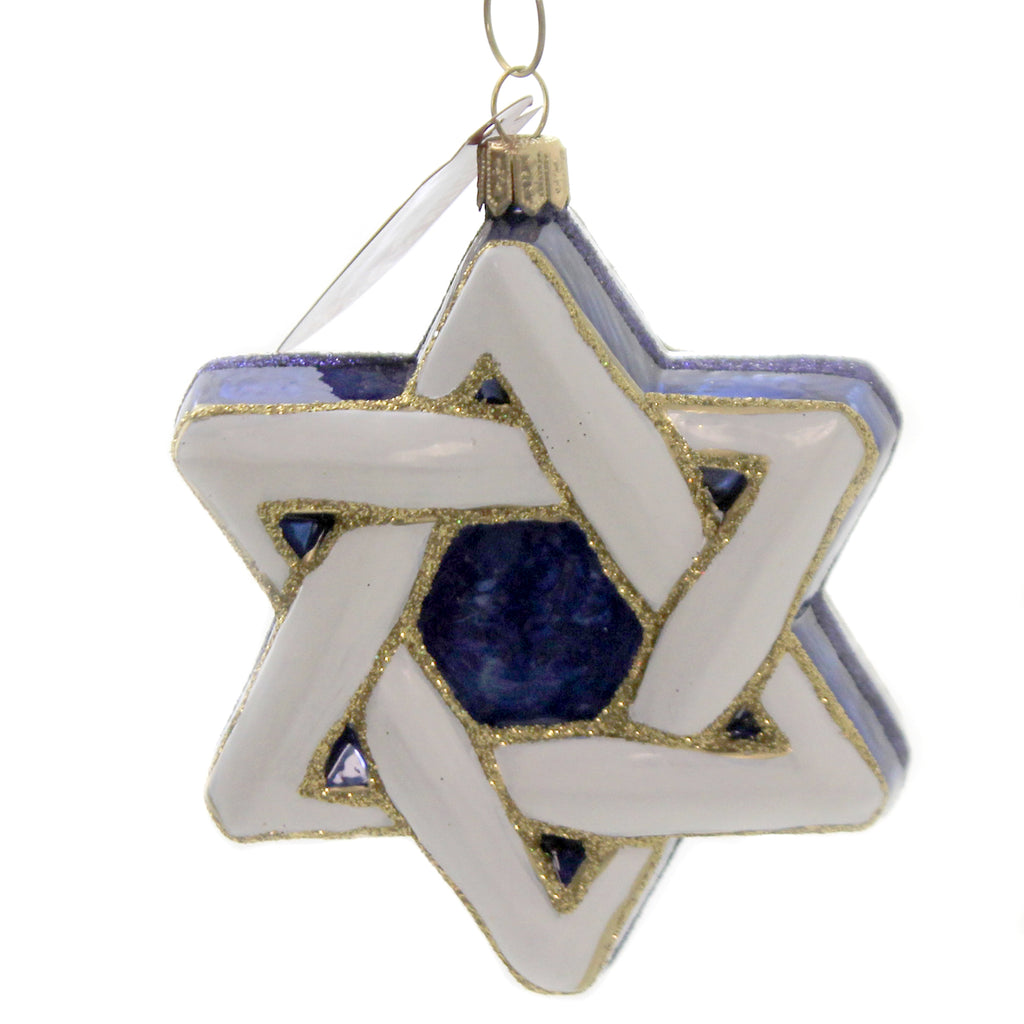 Star Of David 089811 Glass Ornaments - SBKGIFTS.COM - SBK Gifts Christmas Shop Cincinnati - Story Book Kids