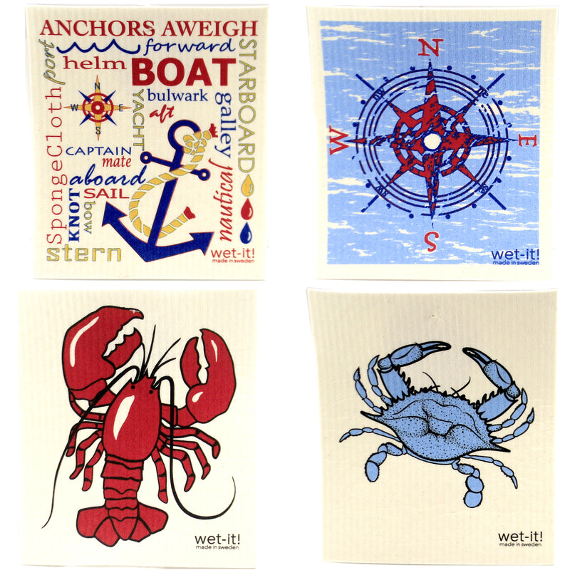 Nautical Set W409w413w2109w1039 Swedish Dish Cloth Household Cleaning Cloth And Tool - SBKGIFTS.COM - SBK Gifts Christmas Shop Cincinnati - Story Book Kids