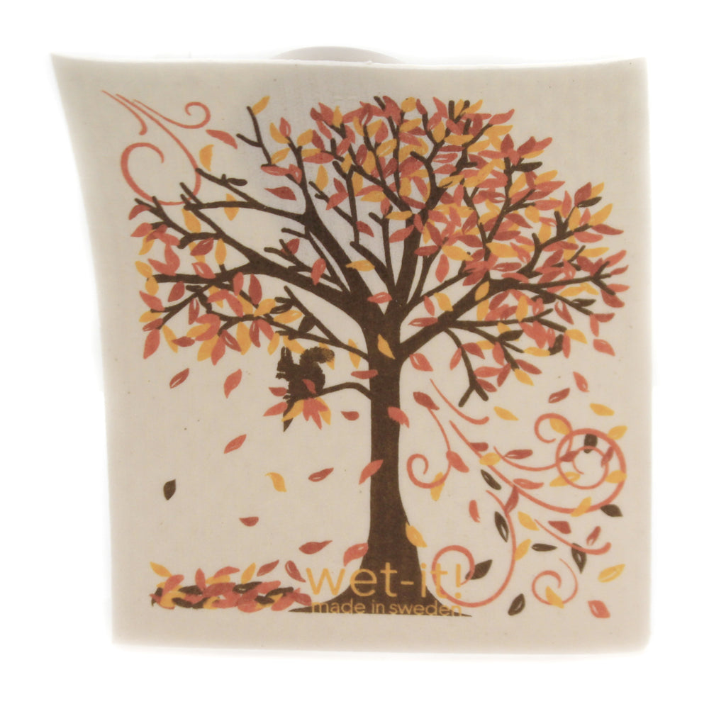 Fall Tree W1028 Swedish Dish Cloth Household Cleaning Cloth And Tool - SBKGIFTS.COM - SBK Gifts Christmas Shop Cincinnati - Story Book Kids