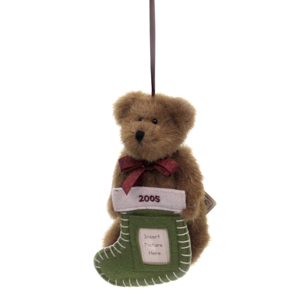 Dated 2005 Bear With Stocking 62720 Boyds Bears Plush Plush Ornaments - SBKGIFTS.COM - SBK Gifts Christmas Shop Cincinnati - Story Book Kids