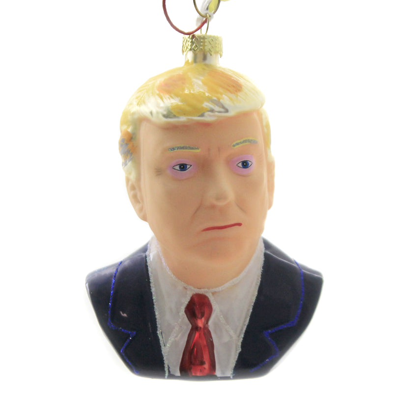 Donald Trump Go6016 Glass Ornaments - SBKGIFTS.COM - SBK Gifts Christmas Shop Cincinnati - Story Book Kids