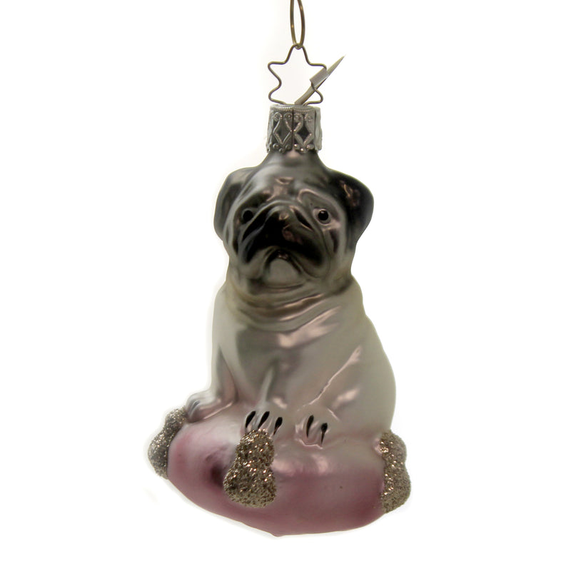 Pug Dog Princess 10128S020 Inge Glas Glass Ornaments - SBKGIFTS.COM - SBK Gifts Christmas Shop Cincinnati - Story Book Kids