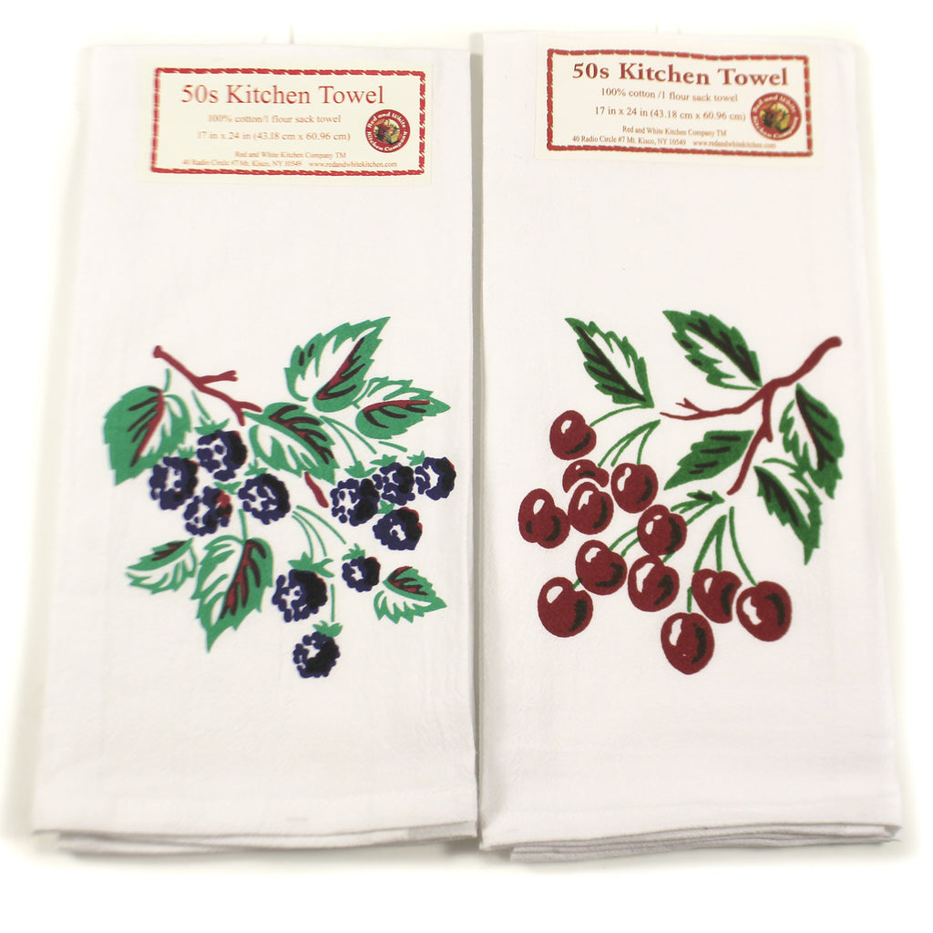 Cherry Blackberry Towels Set/2 Vl15 & Vl102 Tabletop Decorative Towels - SBKGIFTS.COM - SBK Gifts Christmas Shop Cincinnati - Story Book Kids
