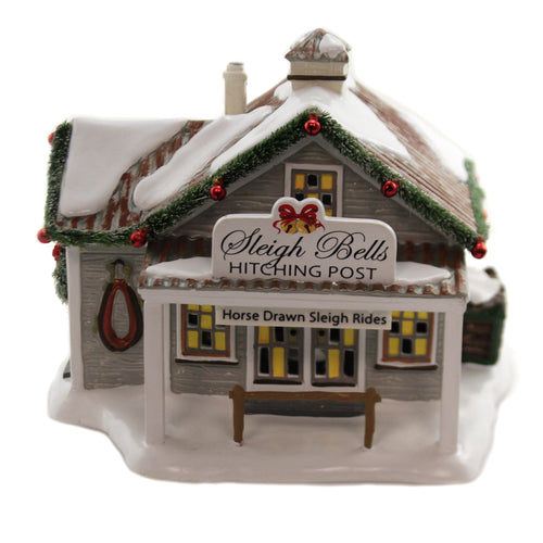 Sleigh Bells Hitching Post 6005453 Department 56 Village Buildings - SBKGIFTS.COM - SBK Gifts Christmas Shop Cincinnati - Story Book Kids