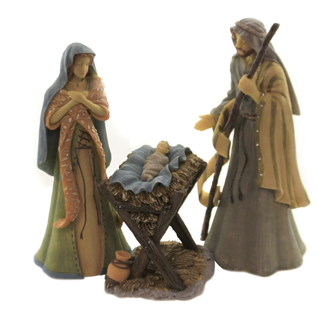 Navity Holy Family Set/3 6004076 Foundations Nativity - SBKGIFTS.COM - SBK Gifts Christmas Shop Cincinnati - Story Book Kids