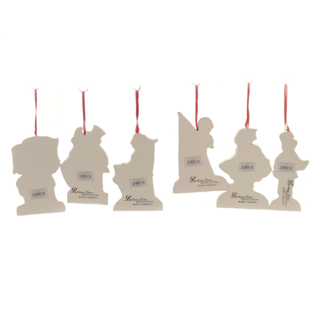 Americana Die Cut Ornaments S/6 Rl6570 Set/6 Patriotic Wood Ornaments - SBKGIFTS.COM - SBK Gifts Christmas Shop Cincinnati - Story Book Kids