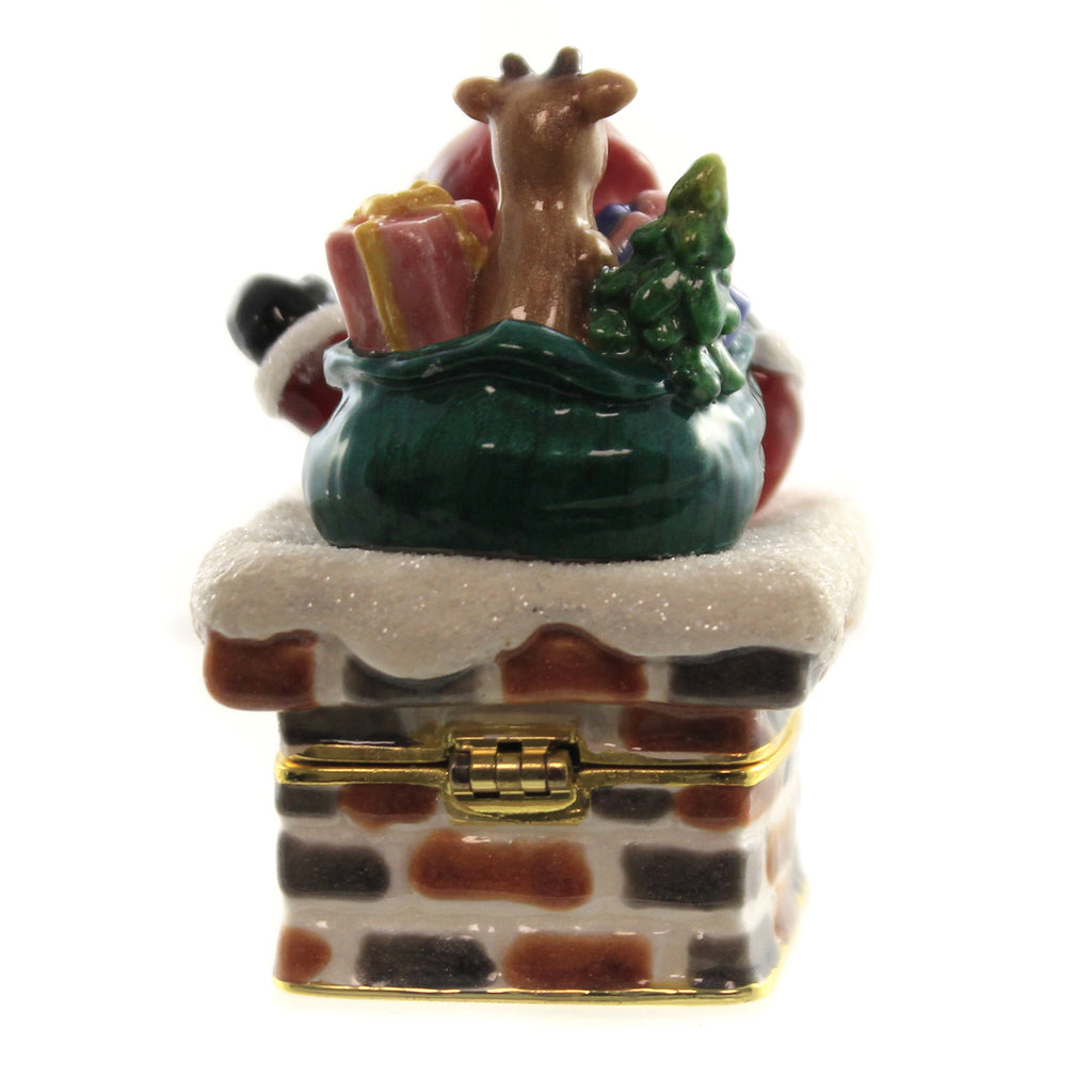 Santa In Chimney Box 3829 Hinged Trinket Box Hinged Trinket Boxes And Trinket Boxes - SBKGIFTS.COM - SBK Gifts Christmas Shop Cincinnati - Story Book Kids
