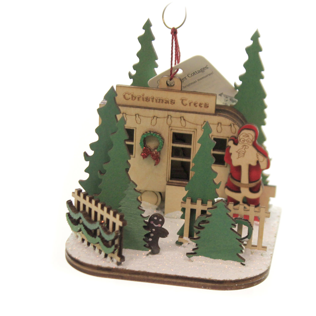 Christmas Tree Lot 80027 Ginger Cottages Wood Ornaments - SBKGIFTS.COM - SBK Gifts Christmas Shop Cincinnati - Story Book Kids