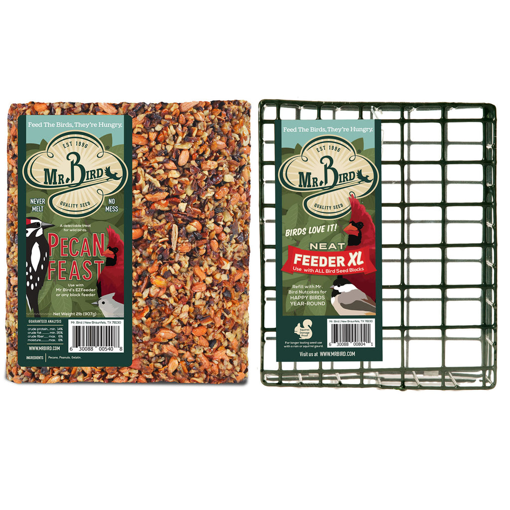 Large Pecan Cake & Cage Starter 804*540 Set/2 Home & Garden Bird Supplies - SBKGIFTS.COM - SBK Gifts Christmas Shop Cincinnati - Story Book Kids