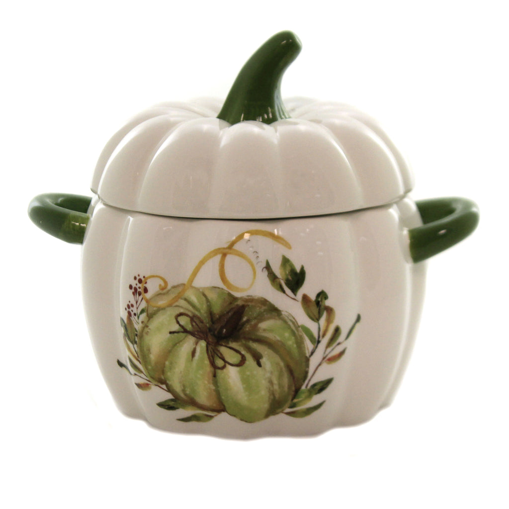 Lidded Pumpkin Dish 41055B Tabletop Other Decorative Serveware And Kitchen Accessories - SBKGIFTS.COM - SBK Gifts Christmas Shop Cincinnati - Story Book Kids