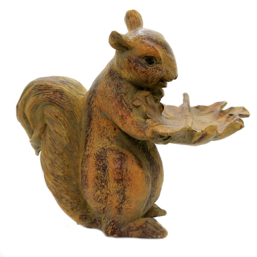 Squirrel Holding Leaf Tray 41201A Home Decor Figurines - SBKGIFTS.COM - SBK Gifts Christmas Shop Cincinnati - Story Book Kids
