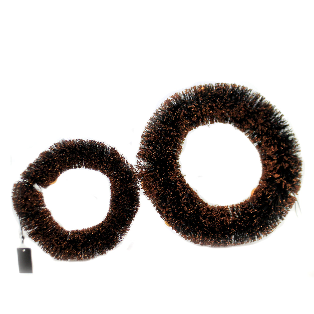 Blk/ Orange Bottle Brush Wreath 41300B Halloween Wreaths - SBKGIFTS.COM - SBK Gifts Christmas Shop Cincinnati - Story Book Kids