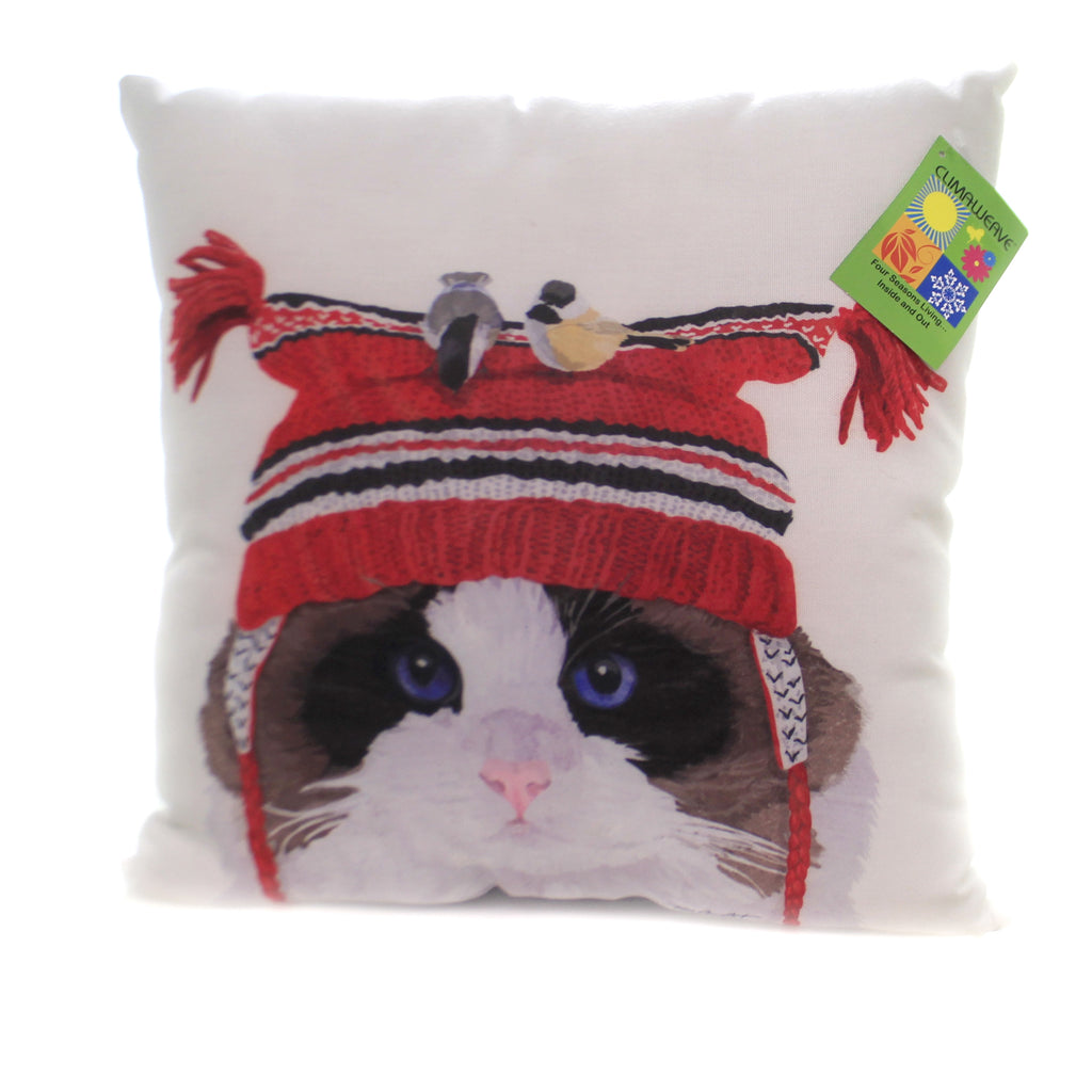 Cat With Birds Pillow Slcbht Christmas Decorative Pillows - SBKGIFTS.COM - SBK Gifts Christmas Shop Cincinnati - Story Book Kids