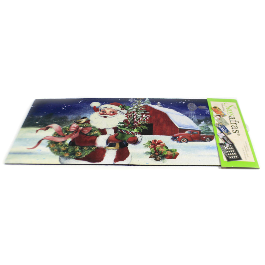 Christmas Barn Santa Switch Mat 431588 Home & Garden Door Mats - SBKGIFTS.COM - SBK Gifts Christmas Shop Cincinnati - Story Book Kids