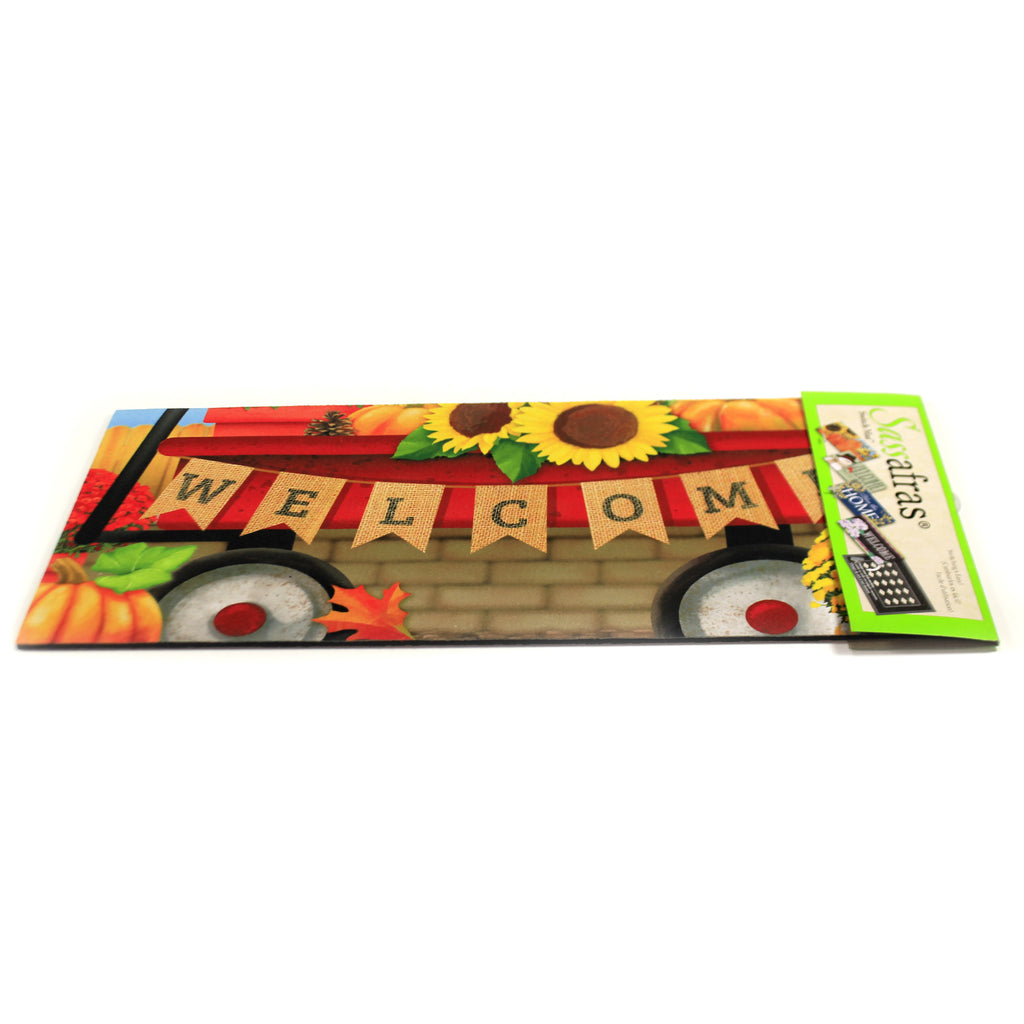 Autumn Red Wagon Switch Mat 431580 Home & Garden Door Mats - SBKGIFTS.COM - SBK Gifts Christmas Shop Cincinnati - Story Book Kids