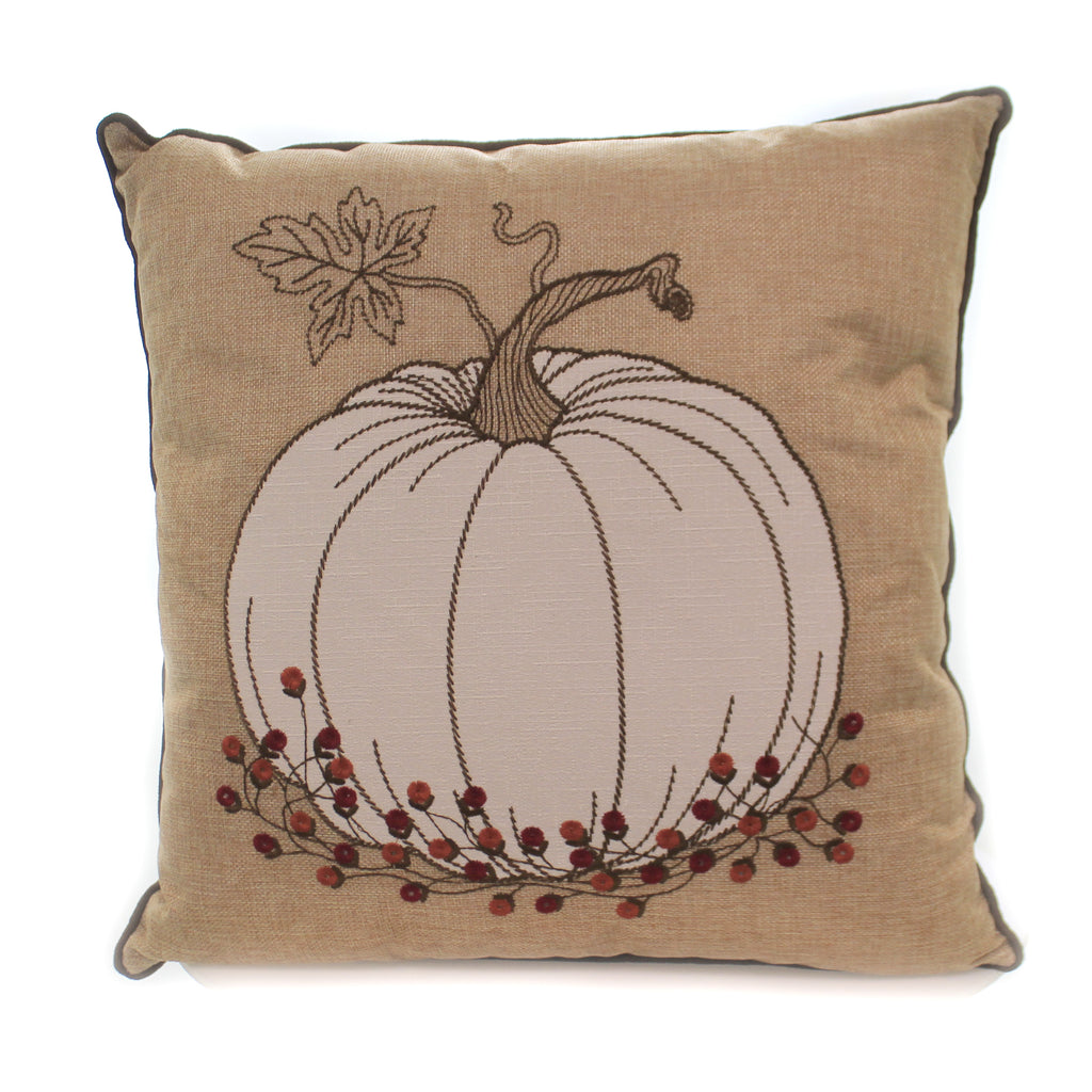 Pumpkin With Bittersweet Pillow 41618C Home Decor Decorative Pillows - SBKGIFTS.COM - SBK Gifts Christmas Shop Cincinnati - Story Book Kids