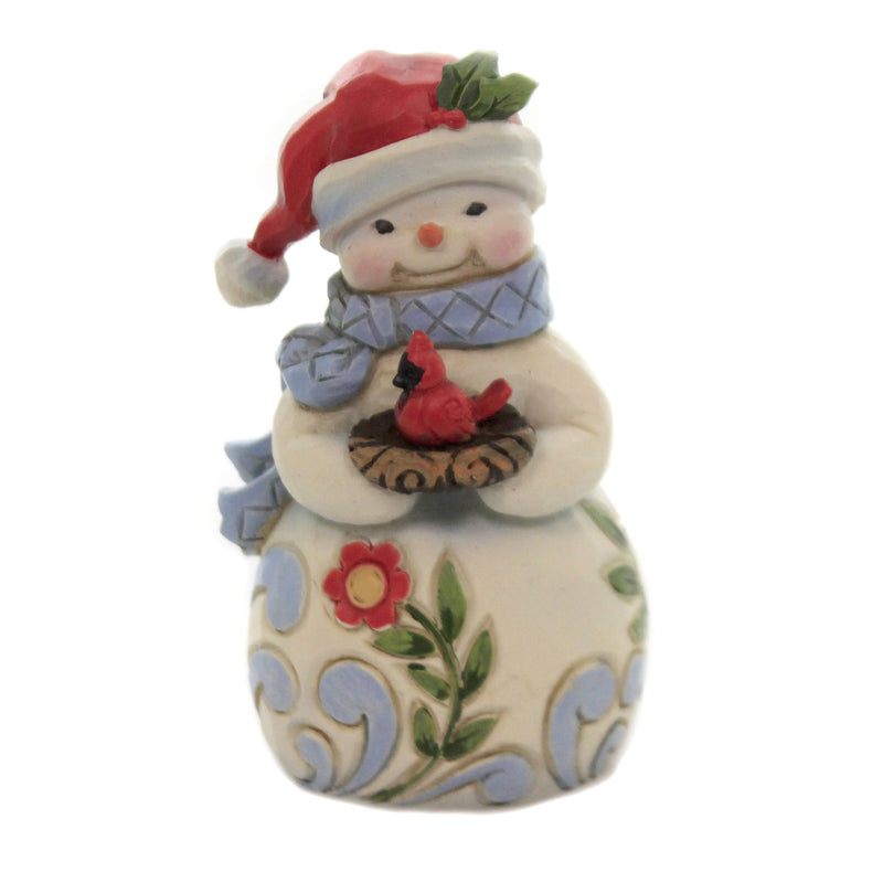 Mini Snowman With Cardinal 6006659 Jim Shore Figurines - SBKGIFTS.COM - SBK Gifts Christmas Shop Cincinnati - Story Book Kids