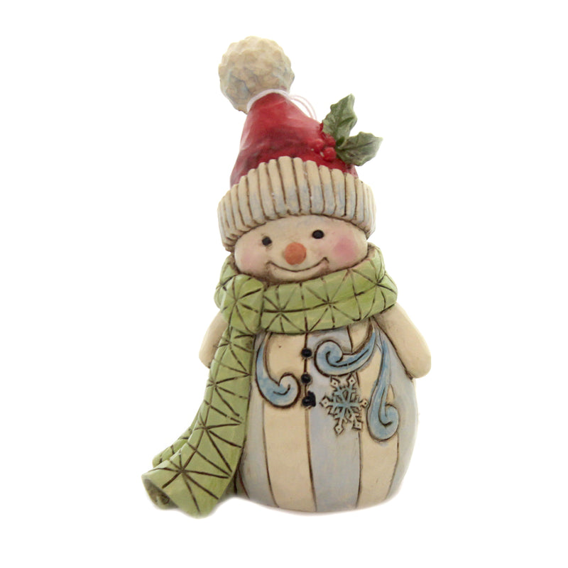 Snowman With Green Scarf 6006660 Jim Shore Figurines - SBKGIFTS.COM - SBK Gifts Christmas Shop Cincinnati - Story Book Kids