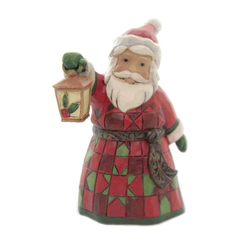 Mini Santa With Lantern 6006661 Jim Shore Figurines - SBKGIFTS.COM - SBK Gifts Christmas Shop Cincinnati - Story Book Kids