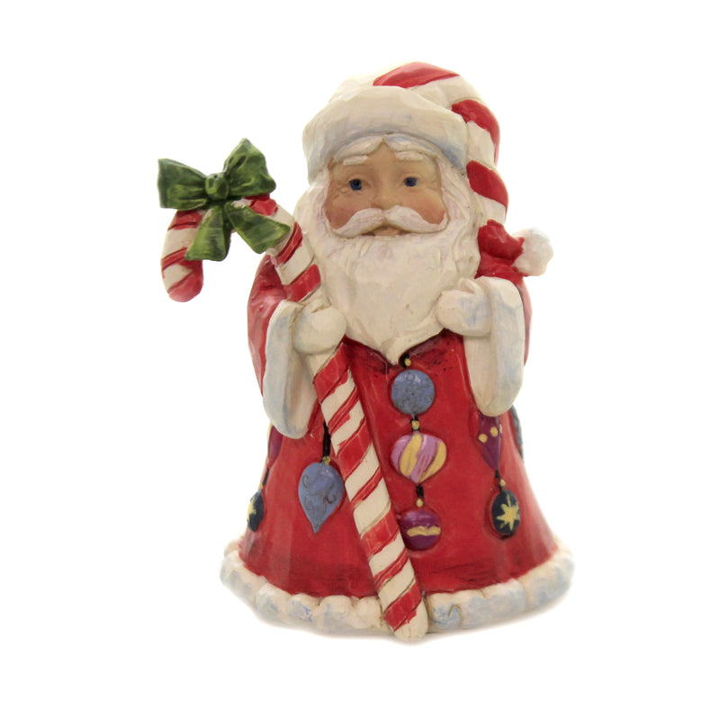 Mini Santa With Candy Cane 6006662 Jim Shore Figurines - SBKGIFTS.COM - SBK Gifts Christmas Shop Cincinnati - Story Book Kids