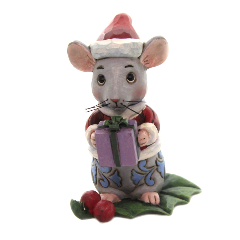 Christmas Mouse Mini 6006663 Jim Shore Figurines - SBKGIFTS.COM - SBK Gifts Christmas Shop Cincinnati - Story Book Kids