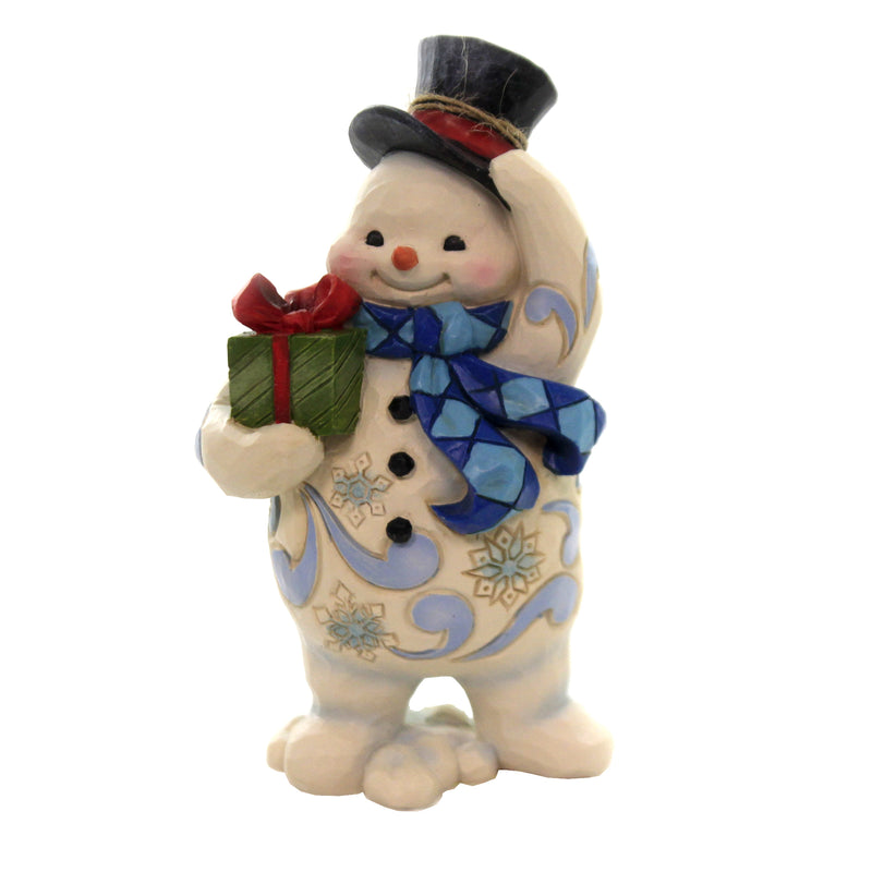 Standing Snowman Pint Sized 6006654 Jim Shore Figurines - SBKGIFTS.COM - SBK Gifts Christmas Shop Cincinnati - Story Book Kids