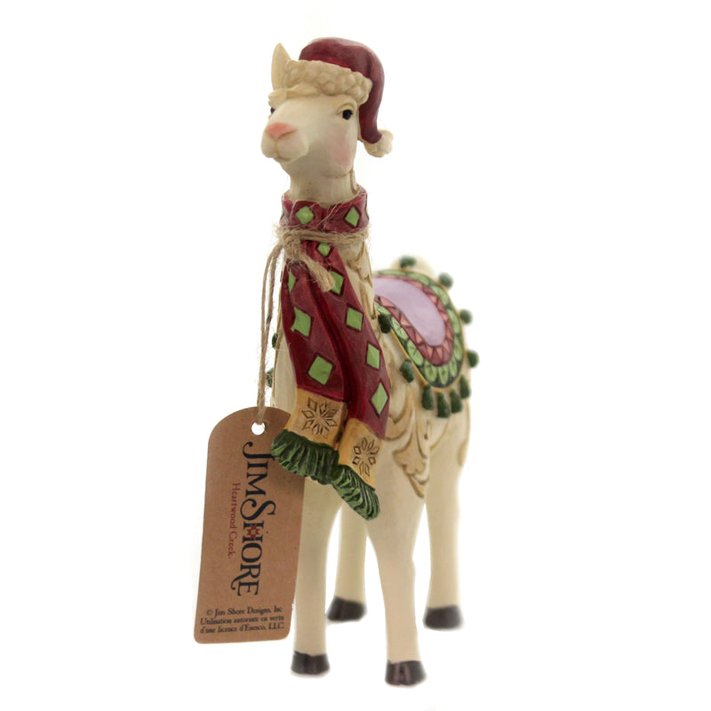 Fa-La-Llama W/ Scarf Pint Sized 6006658 Jim Shore Figurines - SBKGIFTS.COM - SBK Gifts Christmas Shop Cincinnati - Story Book Kids