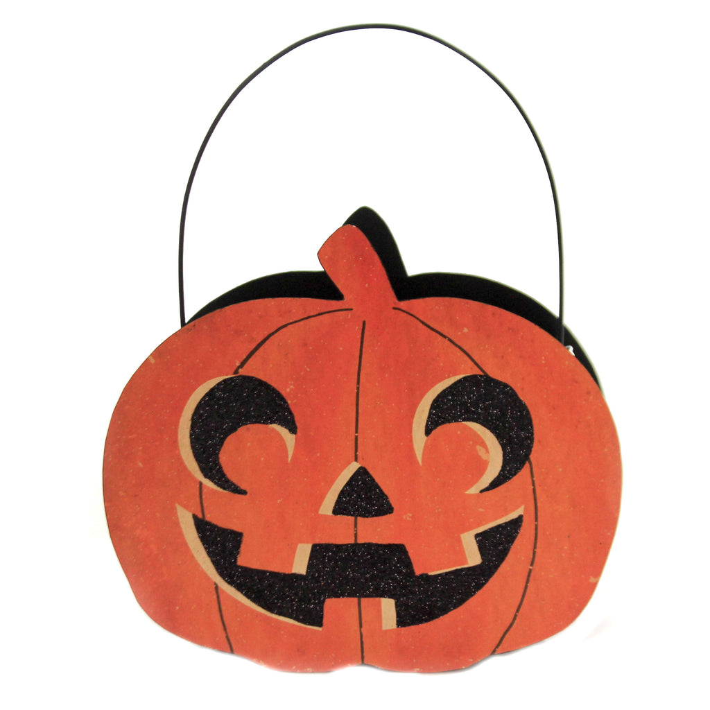 Jack O Lantern Tin Candy Bucket Tf9135 Halloween Home Decor - SBKGIFTS.COM - SBK Gifts Christmas Shop Cincinnati - Story Book Kids