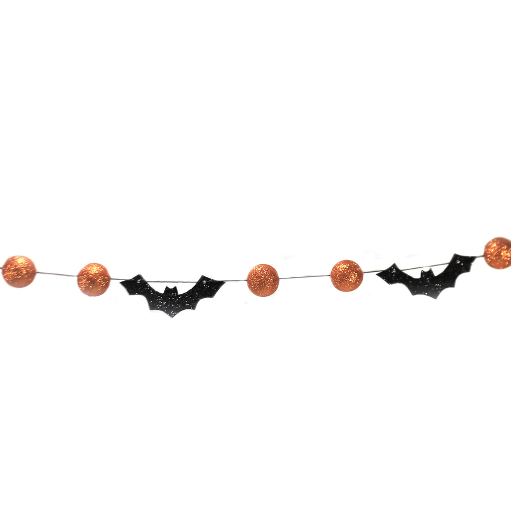 Bats And Orange Bead Garland Tf9842 Halloween Garlands And Tree Trimmings - SBKGIFTS.COM - SBK Gifts Christmas Shop Cincinnati - Story Book Kids