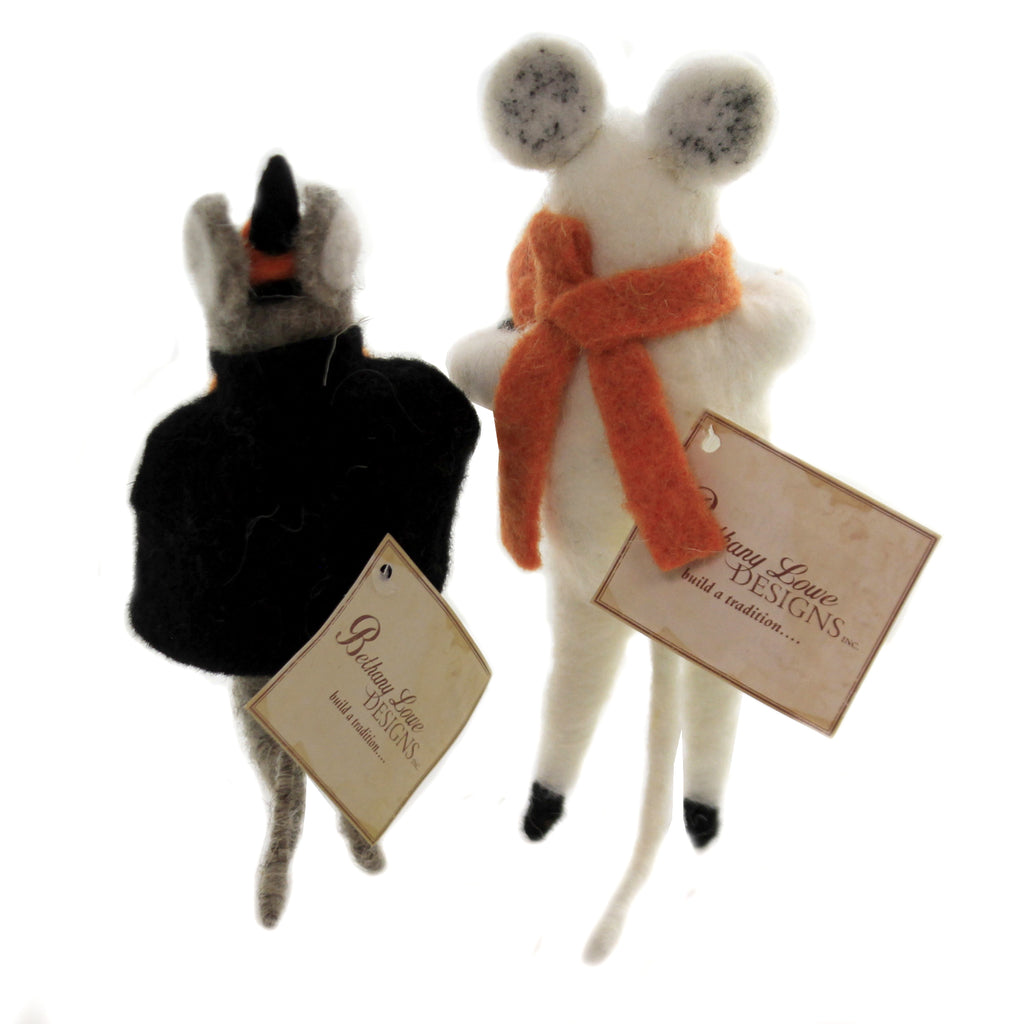 Felted Halloween Mice Set/2 Lm8166*Lm8167 Halloween Plush - SBKGIFTS.COM - SBK Gifts Christmas Shop Cincinnati - Story Book Kids