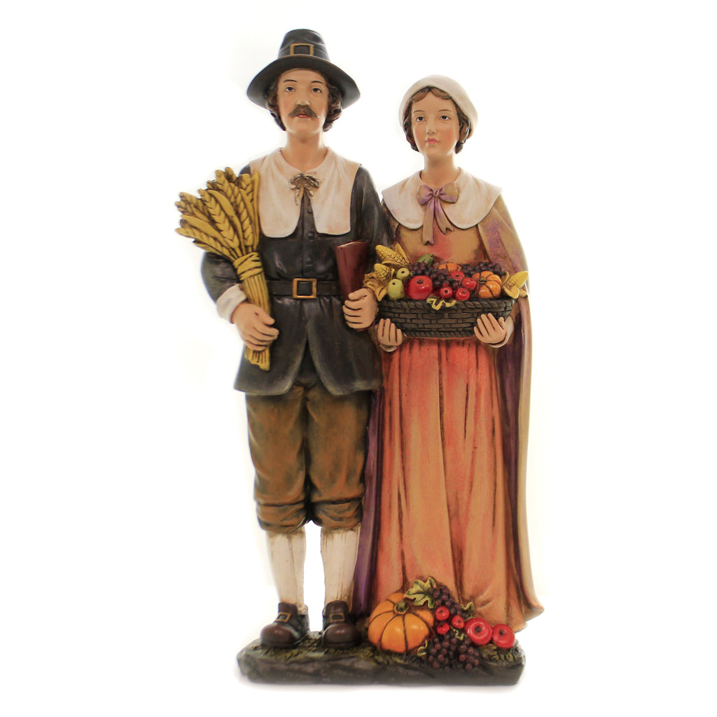 Pilgrim Couple 33521 Thanksgiving Figurines - SBKGIFTS.COM - SBK Gifts Christmas Shop Cincinnati - Story Book Kids