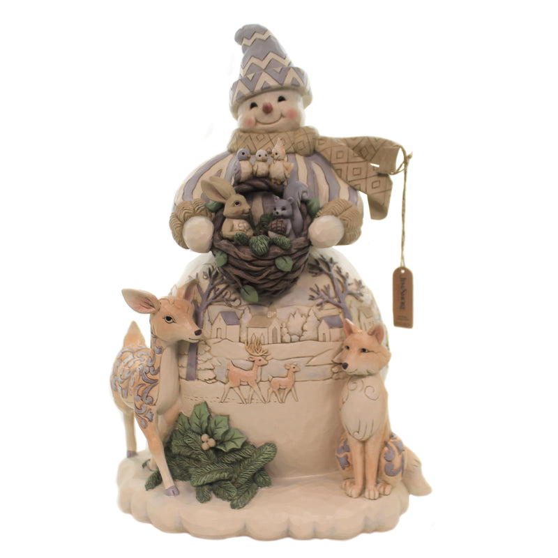 White Woodland Snowman Statue 6006575Nd Jim Shore Figurines - SBKGIFTS.COM - SBK Gifts Christmas Shop Cincinnati - Story Book Kids