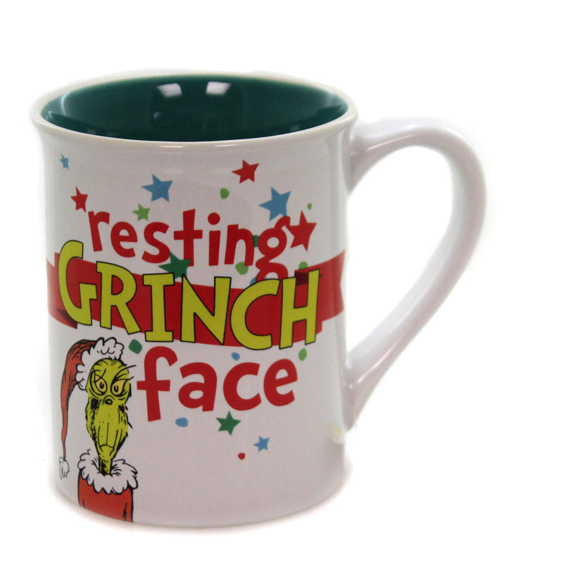 Resting Grinch Face Mug 6000303 Tabletop Coffee Cups And Mugs - SBKGIFTS.COM - SBK Gifts Christmas Shop Cincinnati - Story Book Kids