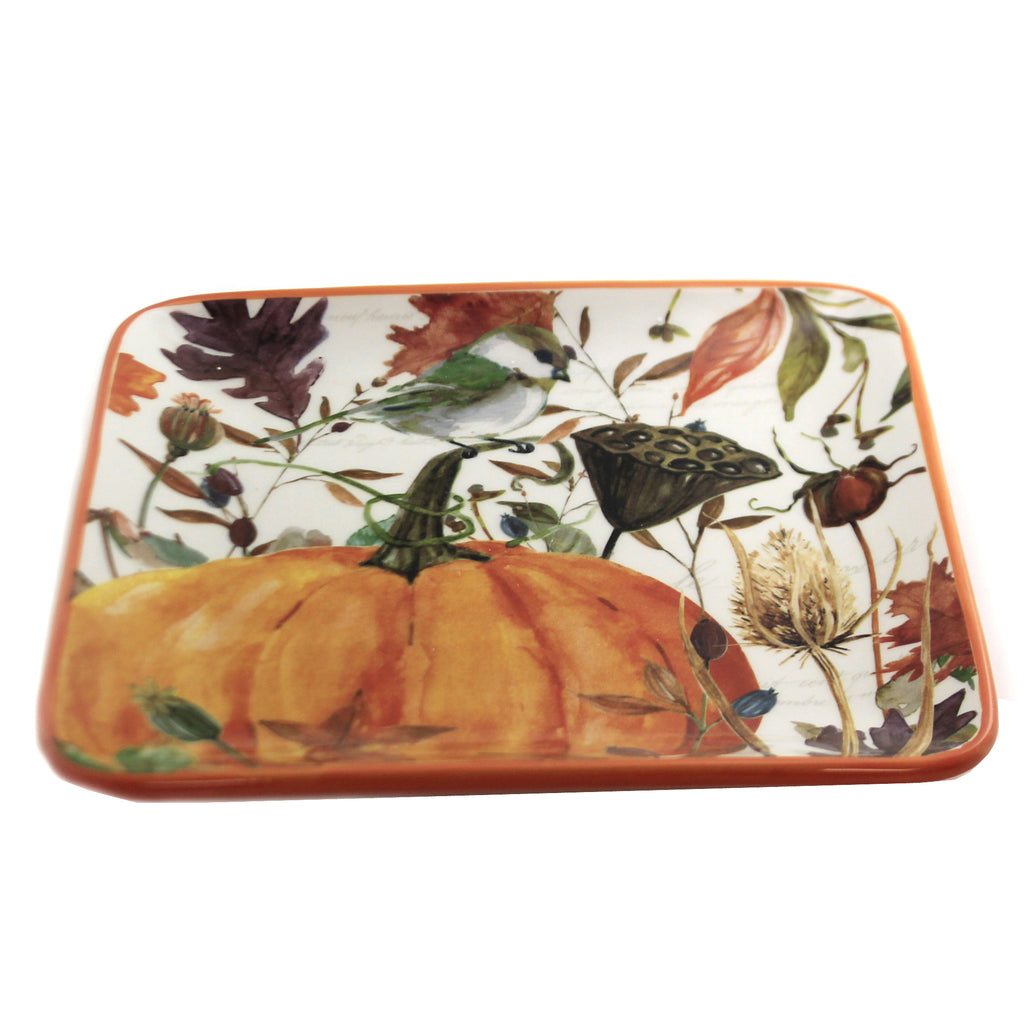 Tabletop Harvest Home Salad Plate Thanksgiving Pumpkin Fall - 9594652
