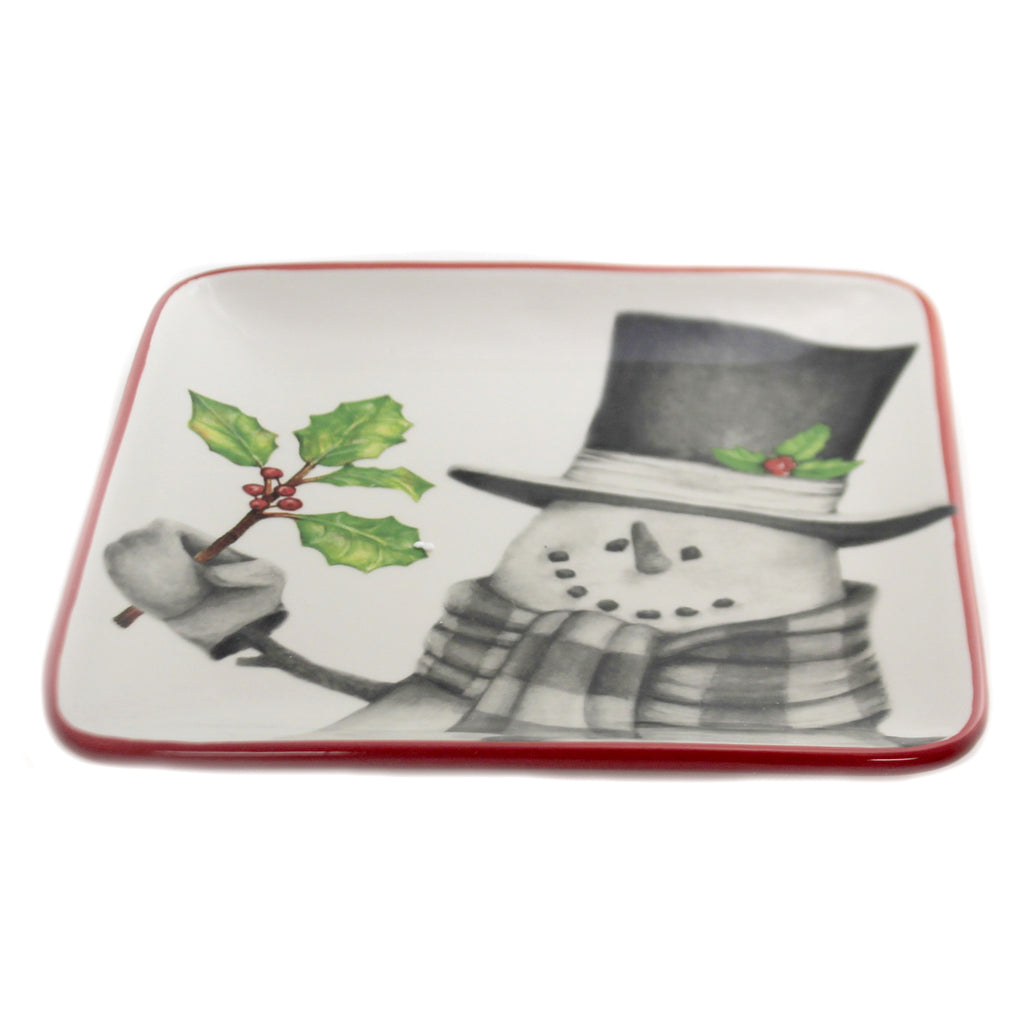 Sketchbook Snowman Salad Plate 9990652 Tabletop Plates And Platters - SBKGIFTS.COM - SBK Gifts Christmas Shop Cincinnati - Story Book Kids