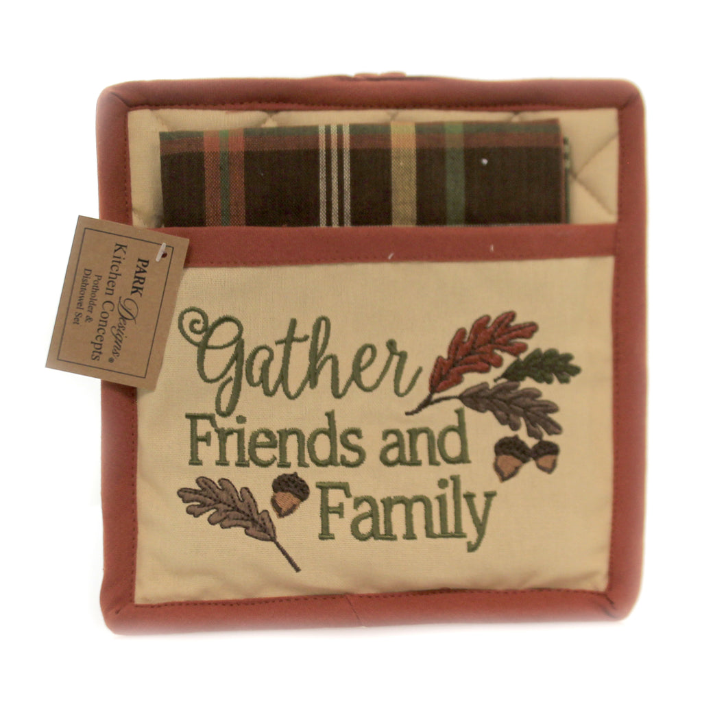 Friends/ Family Potholder Set 81761 Thanksgiving Trivets And Pot Holders - SBKGIFTS.COM - SBK Gifts Christmas Shop Cincinnati - Story Book Kids