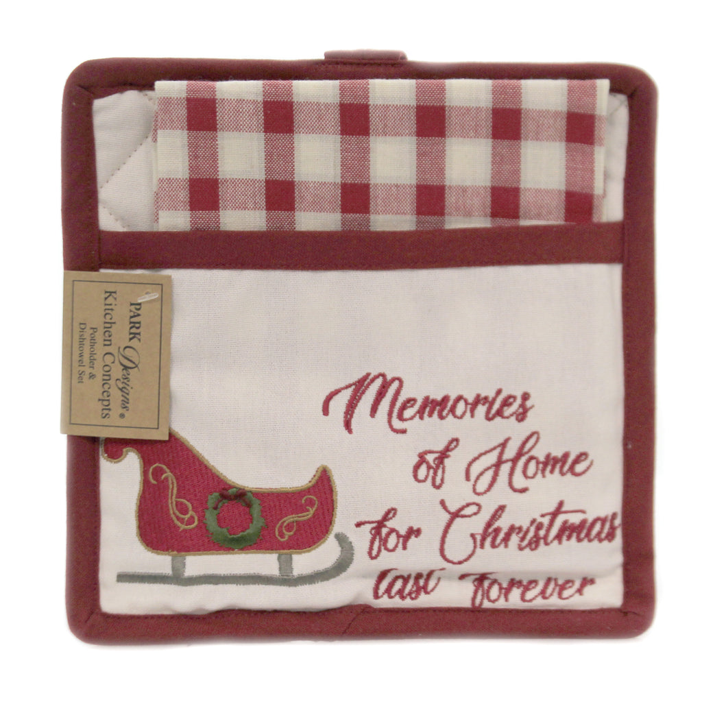 Memories Of Home Potholder Set 88561 Christmas Trivets And Pot Holders - SBKGIFTS.COM - SBK Gifts Christmas Shop Cincinnati - Story Book Kids