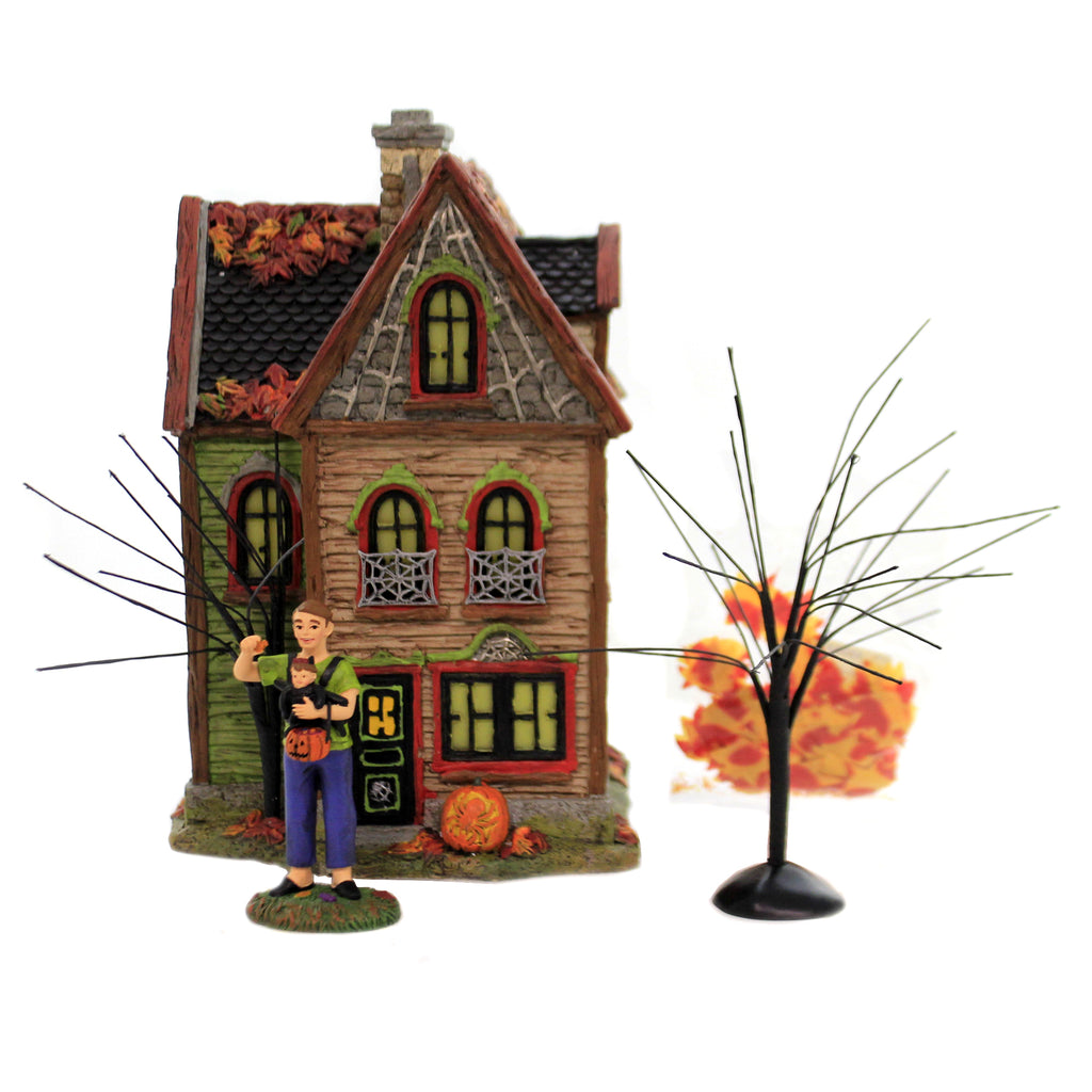 Halloween Spider House Box Set 6005481 Department 56 House Department 56 Halloween Village Buildings - SBKGIFTS.COM - SBK Gifts Christmas Shop Cincinnati - Story Book Kids