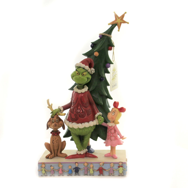 Grinch Max Cindy Decorating Tree 6006567 Jim Shore Figurines - SBKGIFTS.COM - SBK Gifts Christmas Shop Cincinnati - Story Book Kids