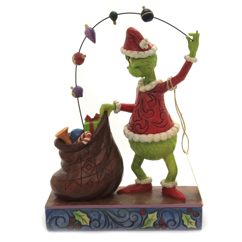 Grinch Juggling Gifts Into Bag 6006568 Jim Shore Figurines - SBKGIFTS.COM - SBK Gifts Christmas Shop Cincinnati - Story Book Kids