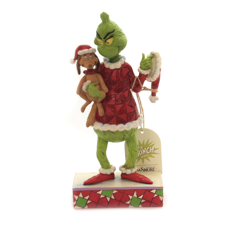 Grinch Holding Max 6006570 Jim Shore Figurines - SBKGIFTS.COM - SBK Gifts Christmas Shop Cincinnati - Story Book Kids
