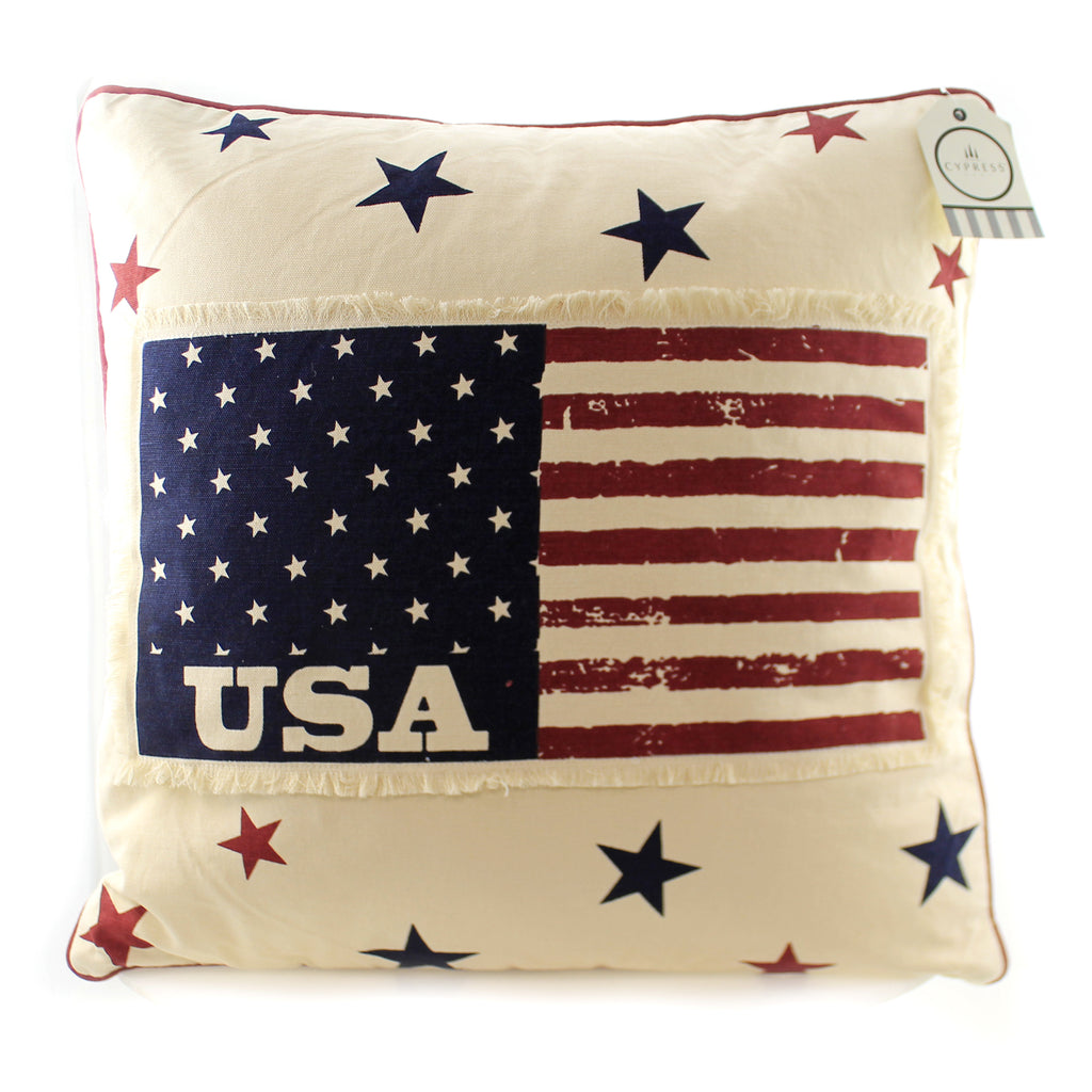 Americana Patchwork Pillow 4P4024 Home Decor Decorative Pillows - SBKGIFTS.COM - SBK Gifts Christmas Shop Cincinnati - Story Book Kids